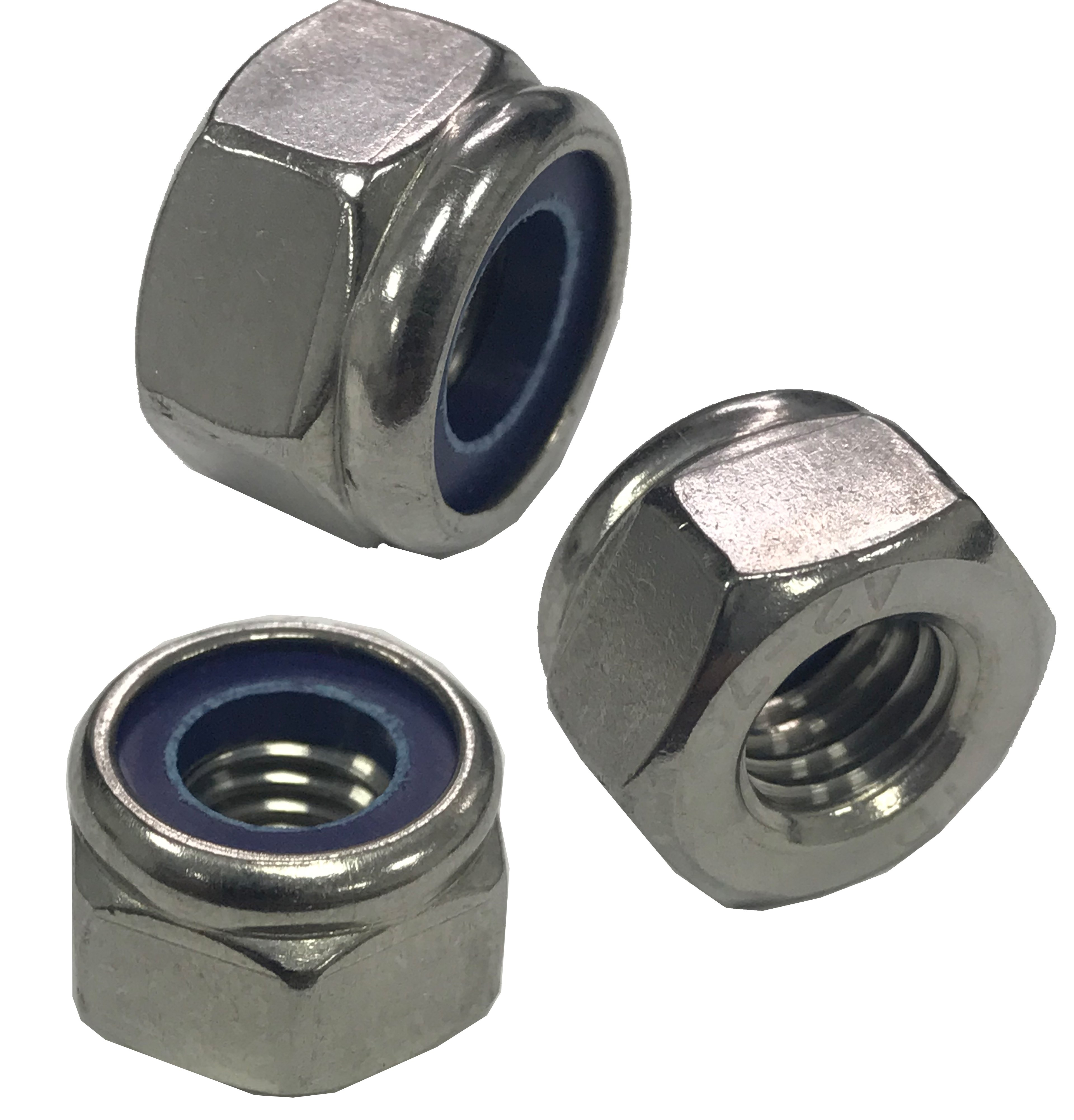 M2 STAINLESS NYLOC NYLOCK LOCK NUTS 10 PACK
