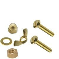 brass-bolts-dome-wing-hex-nuts-washers