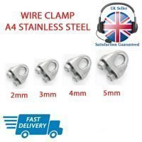 5mm STAINLESS STEEL 316 2 A4 Bow shackle Pack Size